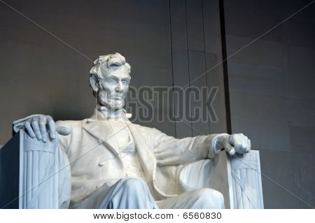 Statue of Abraham Lincoln in the Lincoln Memorial Washington DC