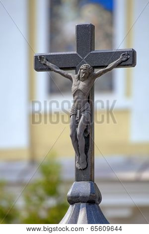 Crucifix on the top of chapel.