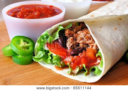 Burrito close up