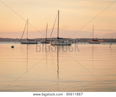 Sailboat Sunrise at Anchor