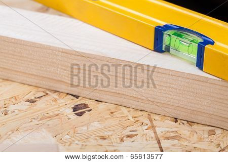 Carpenters Level, Ruler And Right Angle