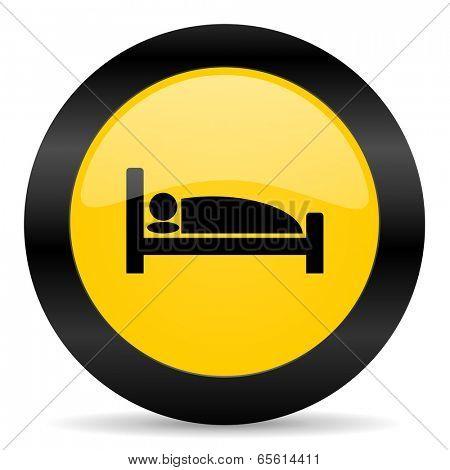 hotel black yellow web icon