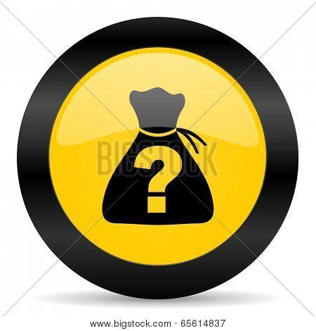 riddle black yellow web icon
