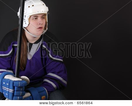 Jugador de Hockey masculino adolescente