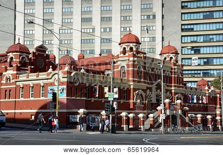 Historic Public Baths Building In Melbourne City.