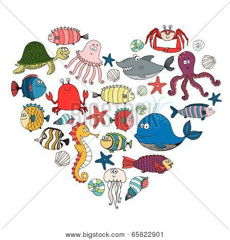 fish and marine animals
