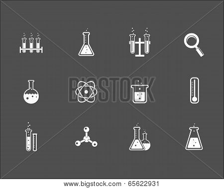 Set of science and research icons