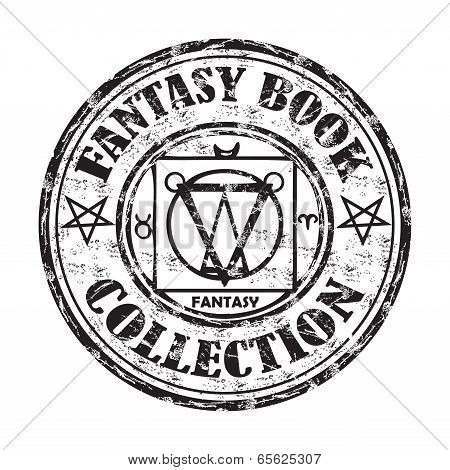 Fantasy book collection stamp