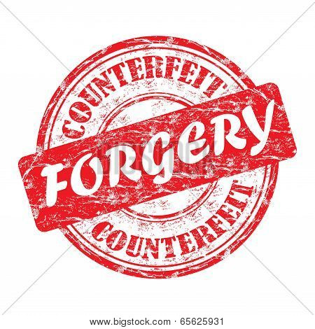 Forgery grunge rubber stamp