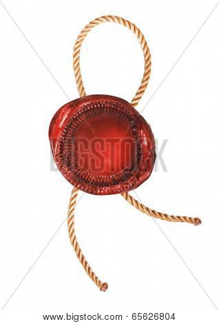 Wax seal isolated on white background