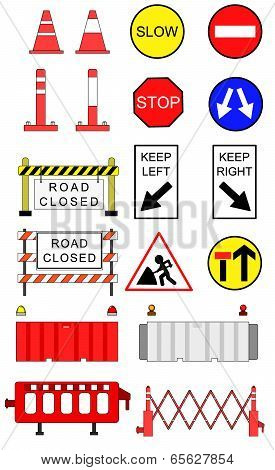 Traffic blockage objects