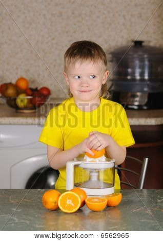 The Child To Wring Out Juice