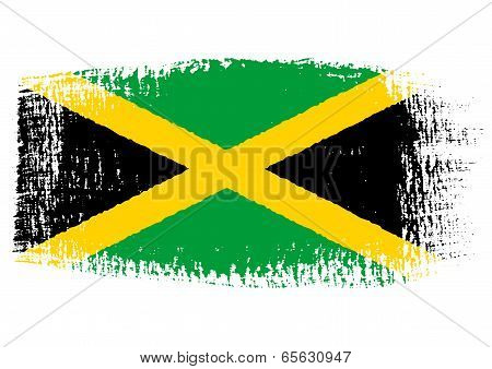Brushstroke Flag Jamaica