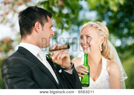 Unusual wedding couple