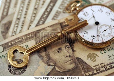 Zeit und Geld - Business Erfolg