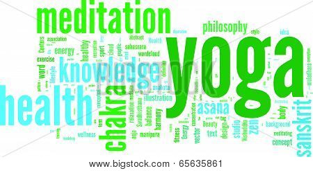 Yoga wordcloud