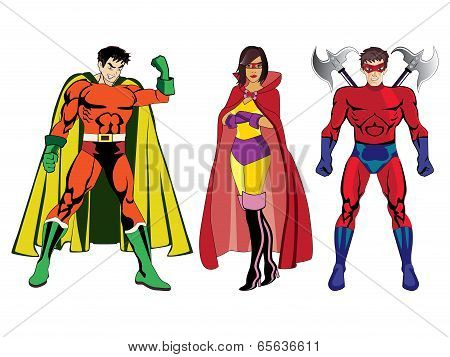 Superheroes vector #1