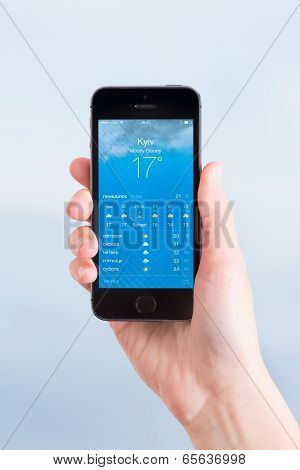 Weather Application On Apple Iphone 5S