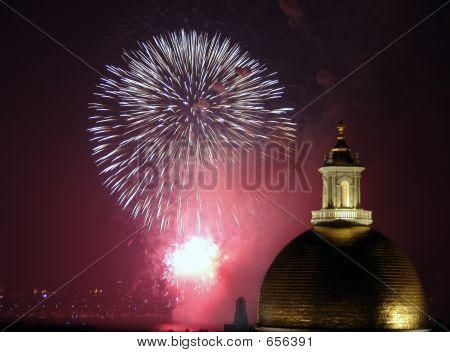 Fogos de artifício de quatro de julho em Boston 2006