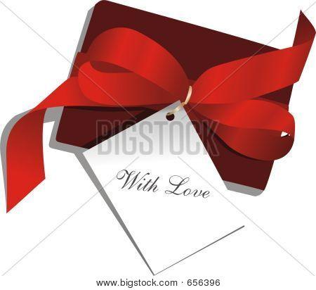 Gegenwart, Red Ribbon, Card,