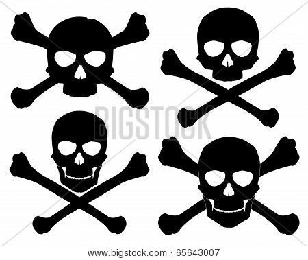 Silhouette of the Jolly Roger