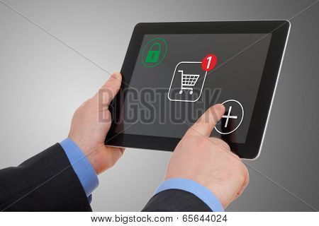 Shopping over the Internet, on your tablet pc