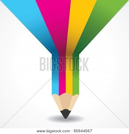 Creative info-graphic of pencil