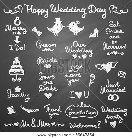 wedding letterings