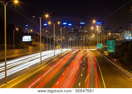 Perspective Cityscape At Night