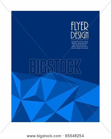 Business Flyer With Modern Triangle Design