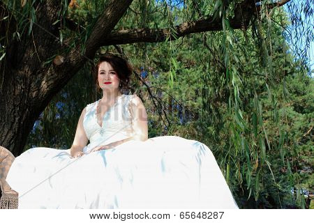 Young bride on a plantation
