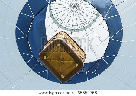 Hot air balloon , view from below