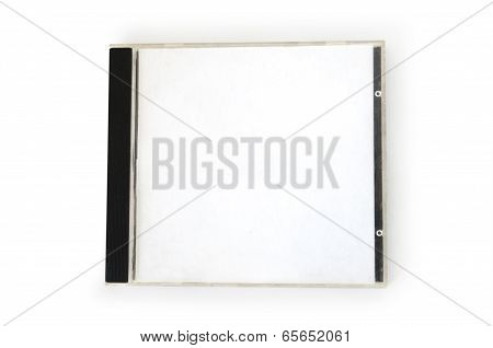 CD Box with disc on white background