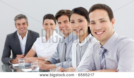 Business Group Showing Diversity In A Meeting