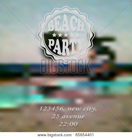 Vector Beach Party Invitation