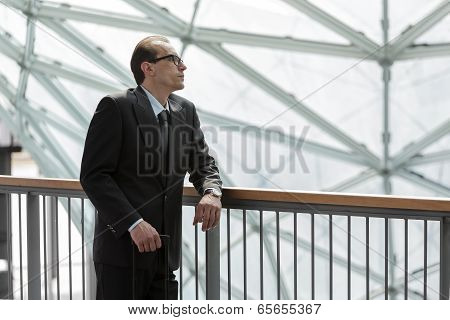 Businessman In Formal Wear Resting And Watching