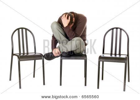 sad man alone