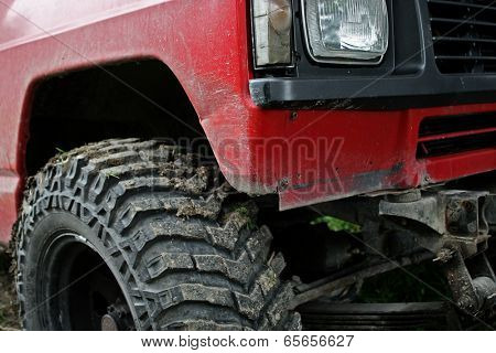 Detail from an 4 x 4 all terrain vehicle