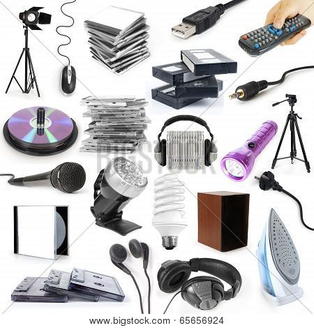 objects collection isolated on the white background