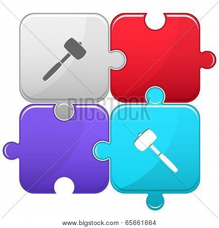 Mallet. Vector puzzle.