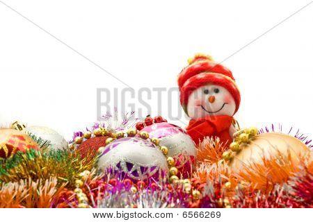Mesagem de Natal - boneco de neve branco engraçado
