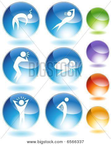 Krankheit-Crystal Icon-Set