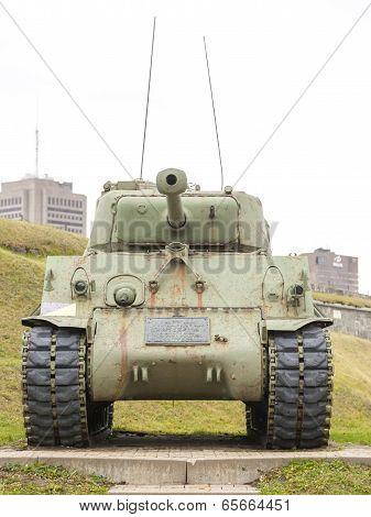 WWII M4 Sherman Tank at La Citadelle, Quebec City, Quebec, Canada. Sherman tank main battle tank des