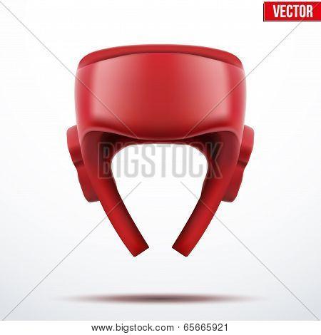Boxing Helmet. Vector Illustration.