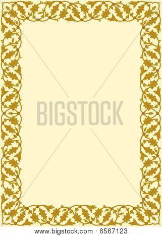 Mustard and Gold Border