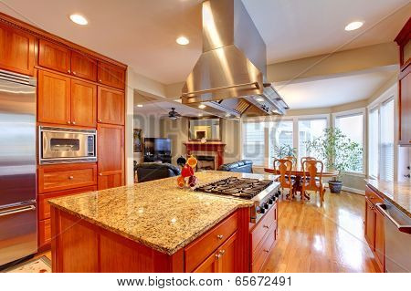 Luxury Kitchen Room With Dining Area