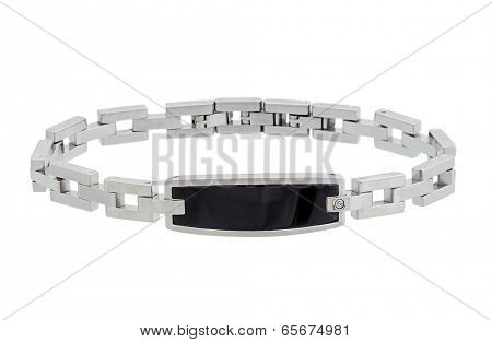 male bracelet isolated on white
