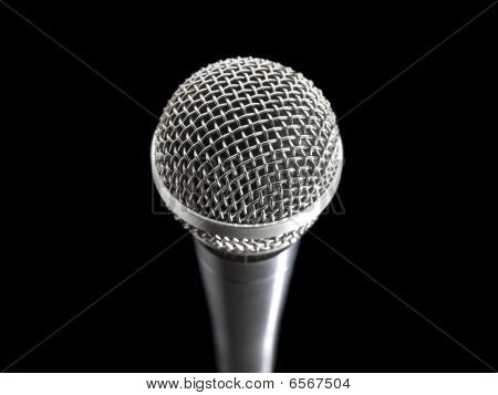 Microphone Over Black