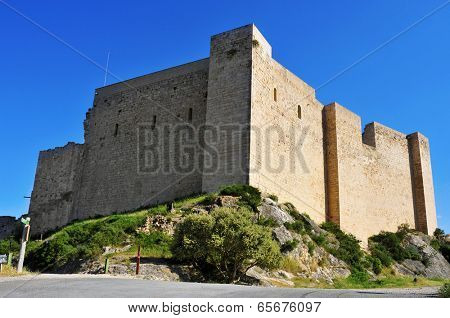 a view of Templar Castle of Miravet, in Spain