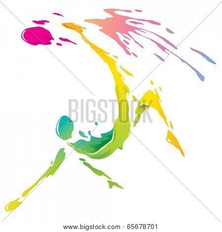 Paint splashing - Bicycle kick